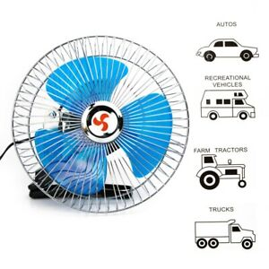 8 Fan With Clip For Car Portable Mini 12 V Volt Electric Cooling Suv Truck Auto