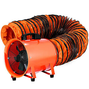 12 Extractor Fan Blower Portable W 5m Duct Hose Ventilator Industrial Exhaust