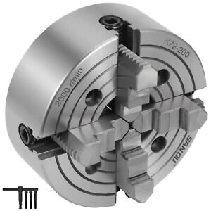K72 200 8 4 Jaw Lathe Chuck Independent Front Mounting Cnc Cast Iron
