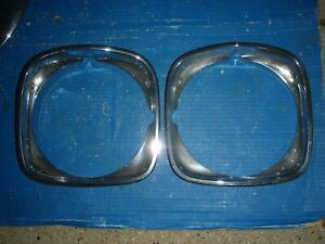 1973 1972 Pontiac Grand Prix Gp Chrome Headlight Bezels 72 73