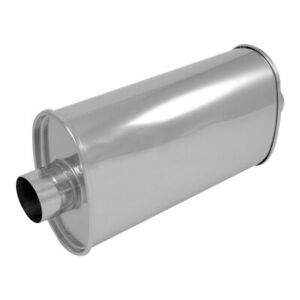 2 5 Center In Out Vibrant Streetpower Oval Muffler Stainless Steel 1102