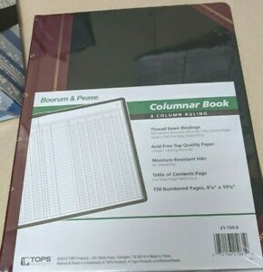 Boorum Pease Columnar Accounting Book Six Column Black Cover 150