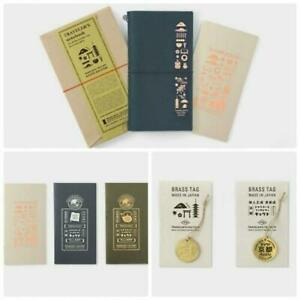 Traveler s Notebook Kyoto Edition Limited Leather Cover Refill X3 Tag X2