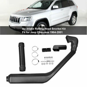 Cold Air Intake System Rolling Head Snorkel Kit For 1984 2001 Jeep Cherokee