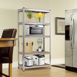72 Storage Shelf Steel Metal 5 Levels Adjustable Shelves