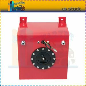 High Grade 5gallon 20l Aluminum Racing Drift Fuel Cell Tank And Level Sender Red
