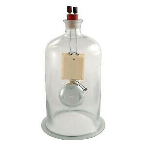 Vacuum Glass Bell Jar With Electric Bell For Laboratory Use