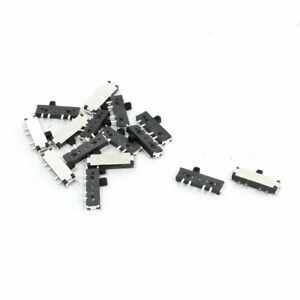 15pcs 8 pin 3 position Dpdt Panel Pcb Mini Smd Smt Slide Switch 11 X 5 X 1 5mm