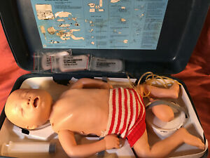 Vtg Laedral Resusci Manikin Cpr Training Baby W Case And Accessories