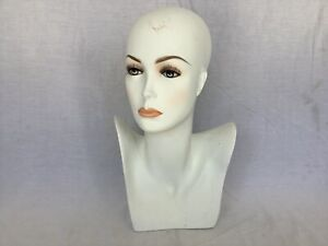 Female Mannequin Display Head Form Bust Makeup No Hair Excellent Condition G