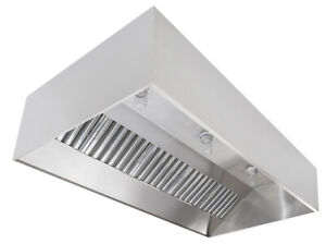Commercial Kitchen Restaurant Duty Stainless Steel Wall Canopy Exhaust Hood