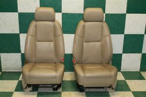 2009 Escalade Cashmere Leather Front Lh Rh Heated Cooled Power Seats Pair Oem