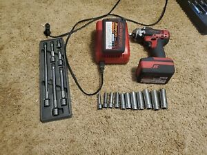 Snap On C8810g 3 8 Drive Cordless Impact Wrench W 2 Batteries And Charger