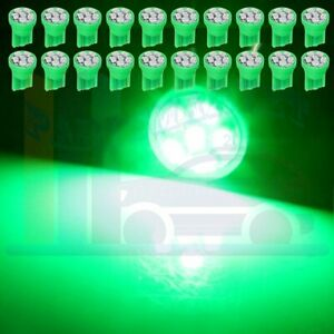 20x T10 6 Smd Led W5w 194 Light Car Speedometer Instrument Dash Bulbs Lamp Green