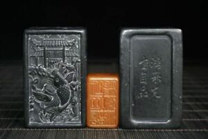 Chinese Exquisite Shoushan Stone Hand Carved Snuff Bottle Set Box 10020