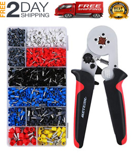 1800pcs Wire Ferrules Wire Ends Terminals Crimping Tool Kit Crimper Plier
