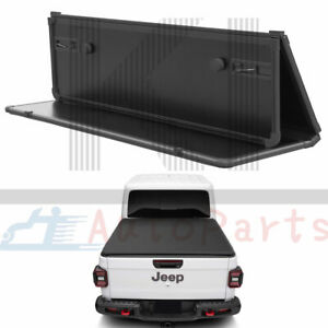 Hard Folding Solid Tri Fold Tonneau Cover Truck Bed For 2020 Jeep Gladiator Jt