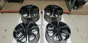 20 Audi 2018 Wheels Rims New Oem Ttrs Glossy Black And Silver New Set Of 4