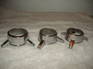 Vintage Ford Chevy 3 Bar Center Cap Spinners