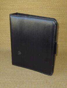 Classic Franklin Covey quest Black Sim Leather 1 5 Rings Open Planner binder