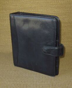Classic Franklin Covey Black Leather 1 5 Rings Open Planner binder