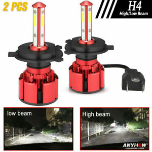 4 sides Cree H4 9003 375000lm 2500w Led Headlight Kit Hi lo Beam Bulbs 6000k
