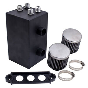 An10 Baffle Oil Catch Can Tank W Breather Filter For Honda Civic Acura Integra