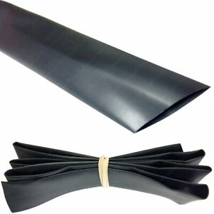 1 5 Heat Shrink Tubing 2 1 50ft black