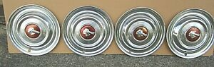 1951 Pontiac Chieftain Used 15 Hubcaps Wheel Covers Set Of 4