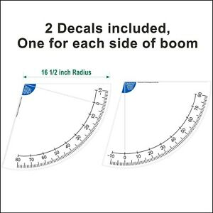 16 1 2 Inch Crane Boom Angle Indicator Decal Kit Left And Right Side