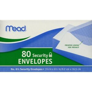Mead Security Envelopes 6 3 4