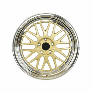 18 Gold Wheels Lm Style Fits Audi A3 A4 S3 S4 5x112 Set Of 4 W882