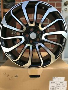 20 Black Machine Face Range Rover Land Rover Discovery Sport Rr Wheels