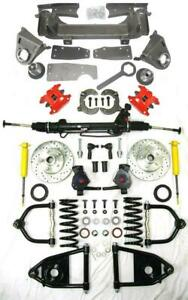1947 1954 Chevy Truck Mustang Ii Power Front End Suspension Kit 2 Drop Wilwood