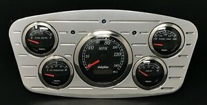1933 1934 Ford Car 5 Gauge Gps Dash Panel Insert Black