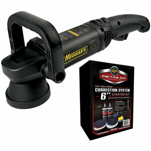 Meguiar s Mt300k6 Dual Action Polisher Microfiber Correction System Kit Includ