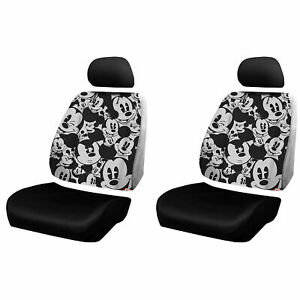 Disney Mickey Mouse Expressions 3pc Low Back Car Seat Covers Universal Fit Suv