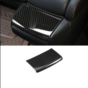 Carbon Fiber Rear Storage Box Panel Cover Trim For Honda Civic 10th 2016 20