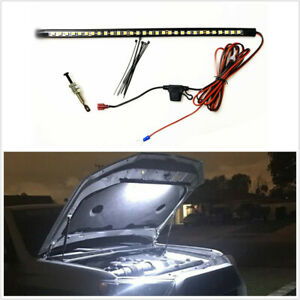 White Under Hood Led Light Kit With Automatic On Off Universal Fits Any Vehicle