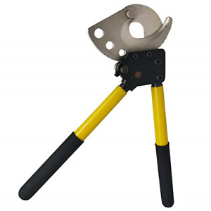 Ratchet Cable Cutter Heavy Duty Hand Tool Wire Up To Cu al Armored 13 6 Inch