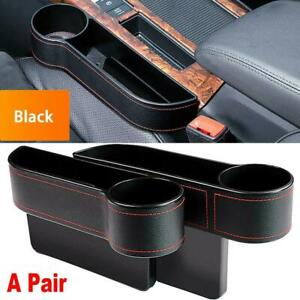 2pcs Car Seat Gap Catcher Organizer Auto Storage Box Pocket Cup Holder Usa