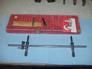 L S Starrett 251 Beam Trammel 14 1 2 In Original Box Lay Out Tool Blue Print