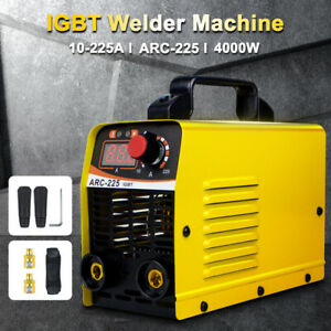 110v 225a Mini Electric Welding Machine Igbt Dc Inverter Arc Mma Stick Welder Us