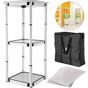 41 7 Spiral Tower Display Case Square Aluminum 10 Clear Panels Retail Locations
