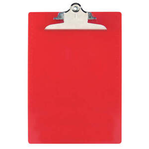 Clipboard letter Size plastic red Pk 12 21601