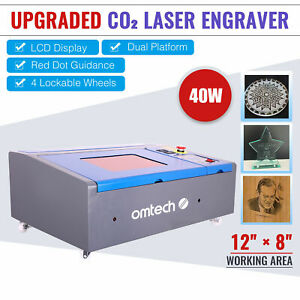 Upgraded 40w Co2 Laser Engraver Cutting Machine 12 x 8 Cutter Usb Red Dot K40