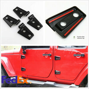 10 X Hood Door Hinge Cover For 07 17 Jeep Wrangler Jk Jku Unlimited Accessores