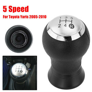 5 Speed Gear Shift Knob Handball For For Toyota Yaris Auris Black Chromed