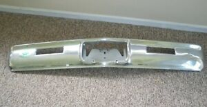 1968 Chevy Impala Rear Bumper Chrome Vintage Aaa Sticker Old Car Part Chevrolet
