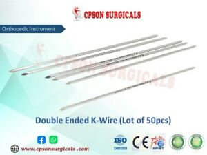 Orthopedic Double Ended K Wire Lot Of 50pcs Ss Surgical Instrument